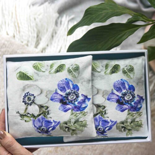 Floral Anemone Lavender Bags square gift set StephieAnn