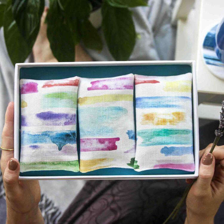 Watercolour Lavender Bags StephieAnn