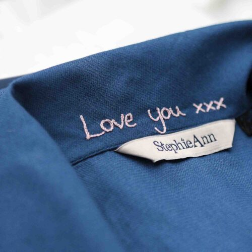 Love you personalised gift embroidery