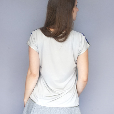 Jersey and silk t-shirt by StephieAnn