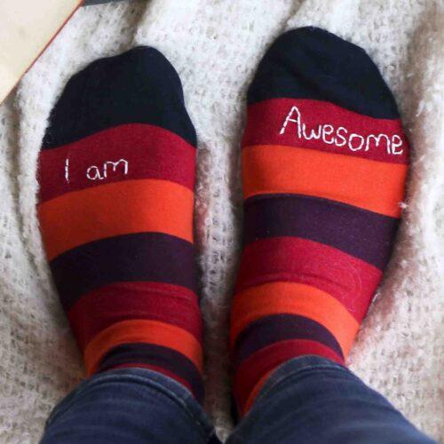 StephieAnn Men's organic cotton personalised socks
