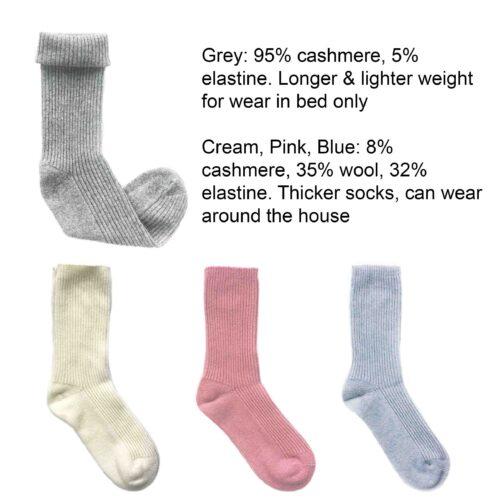 Cashmere Socks StephieAnn Design