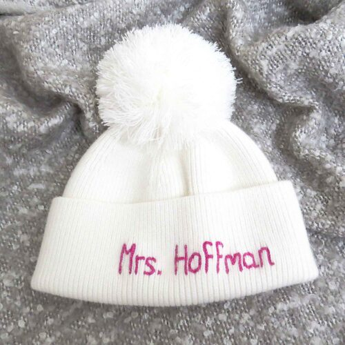 Personalised Cashmere hat UK StephieAnn