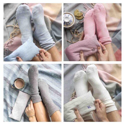 StephieAnn Cashmere socks and wheatbag
