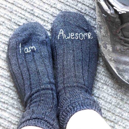StephieAnn Men's chunky walking socks