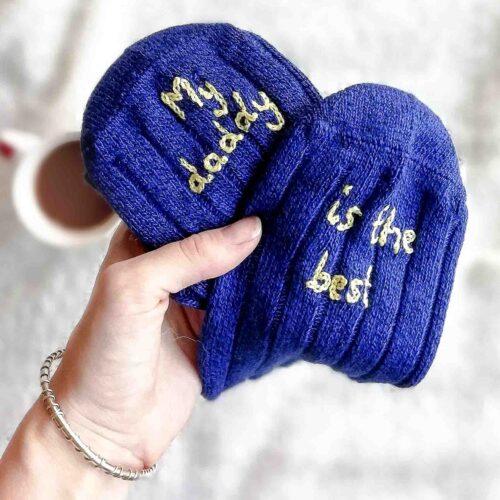 Men's personalised bed socks by StephieAnn