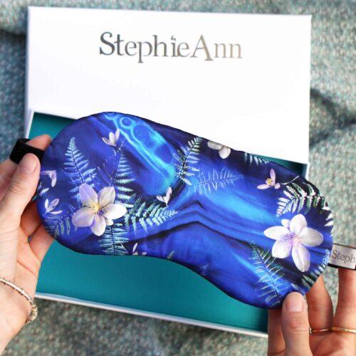 Silk eye mask gift UK by StephieAnn