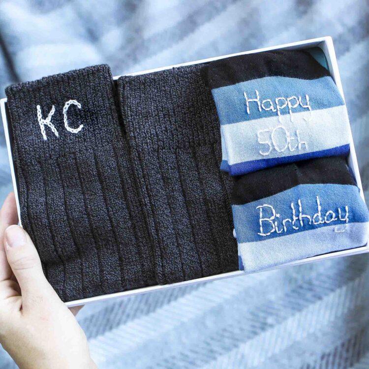 Men's personalised sock gift set by StephieAnn