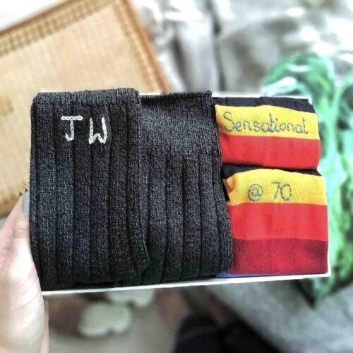 Personalised birthday sock gift by StephieAnn
