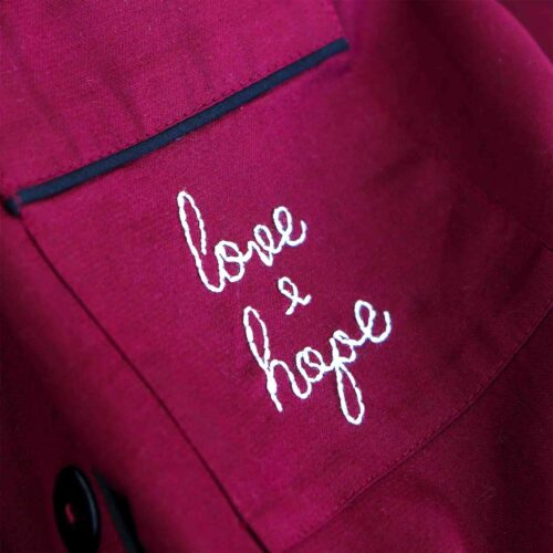 StephieAnn personalised embroidered Cotton pyjamas