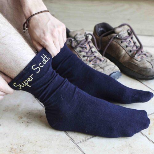 StephieAnn Personalised Mens Socks
