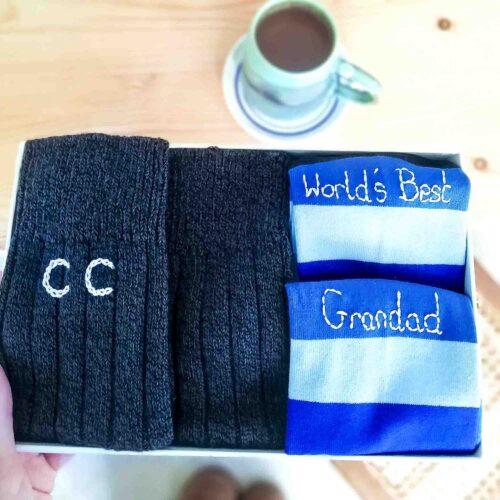 Sock gift set for Grandad by StephieAnn
