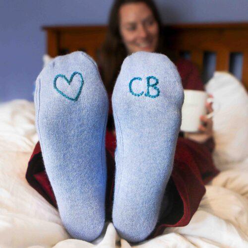 Hand embroidered Socks StephieAnn