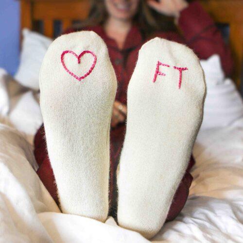 Cream bed socks by stephieAnn