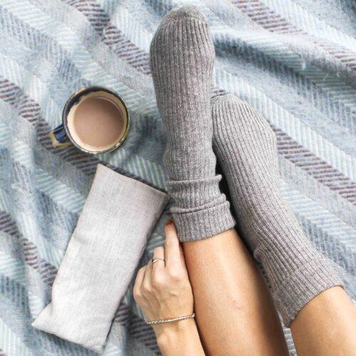 Grey Socks and Wheatbag gift set StephieAnn