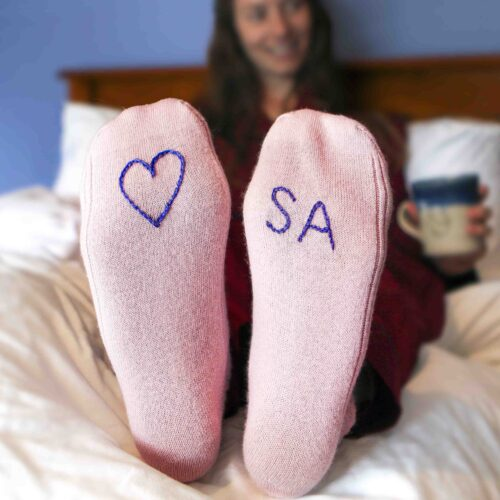Personalised Cashmere Bed Socks By StephieAnn