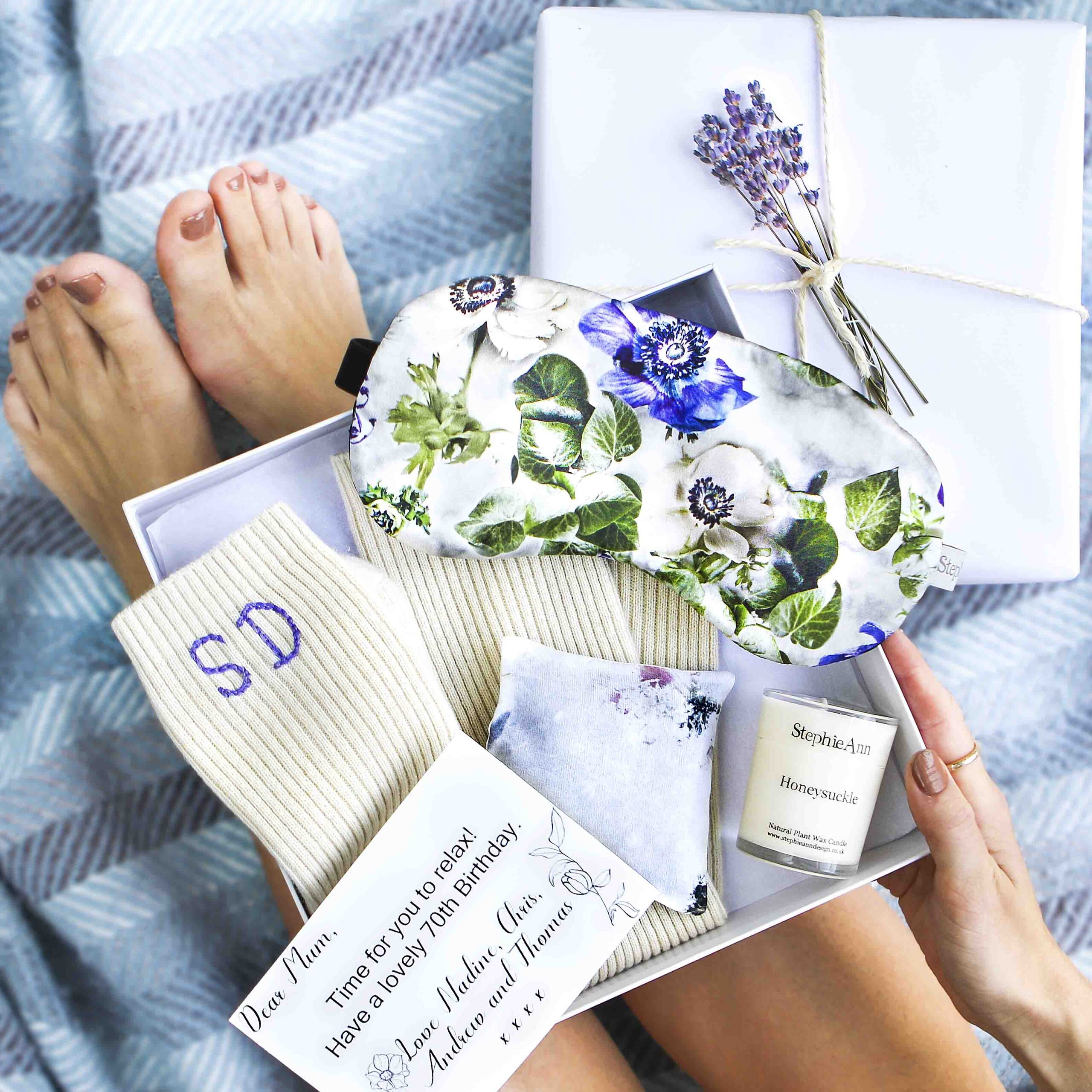 Lavender Relaxation gift box square