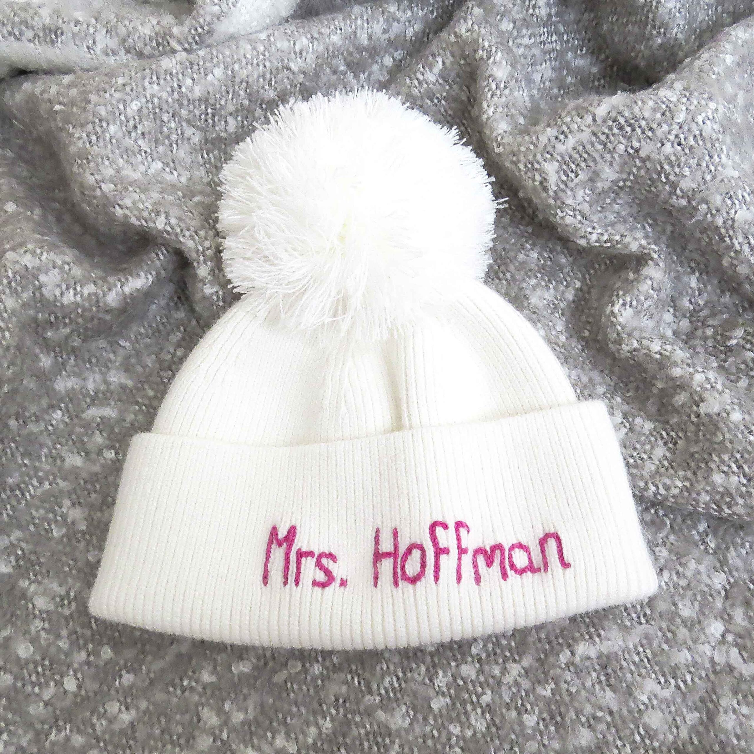 StephieAnn Personalised Cashmere Hat
