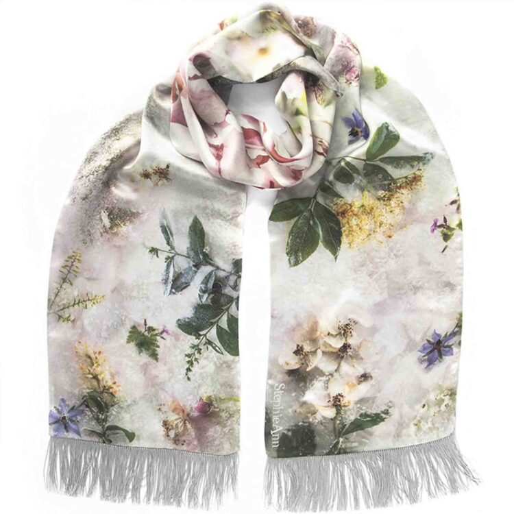 StephieAnn Elderflower Silk Scarf