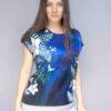 StephieAnn Flare Silk Top