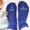 StephieAnn My Daddy Is Awesome Bed Socks
