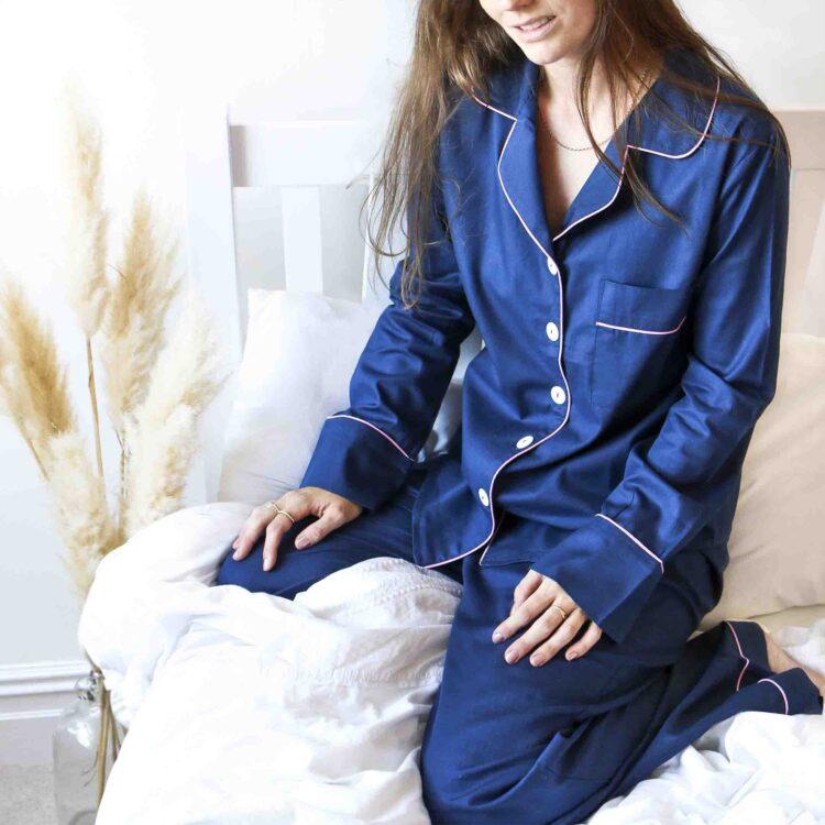 StephieAnn Navy Blue Cotton pyjamas