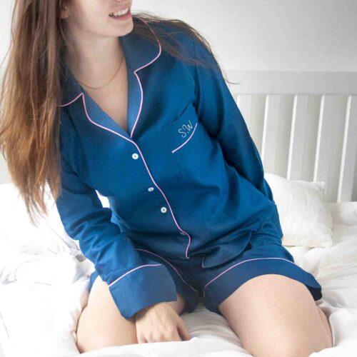 StephieAnn Navy Blue Organic Cotton pyjamas
