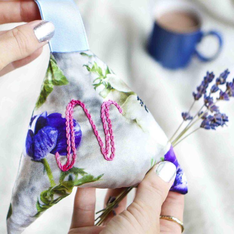 StephieAnn Personalised Lavender Bag