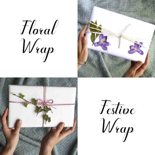 StephieAnn Pressed flower gift wrapping