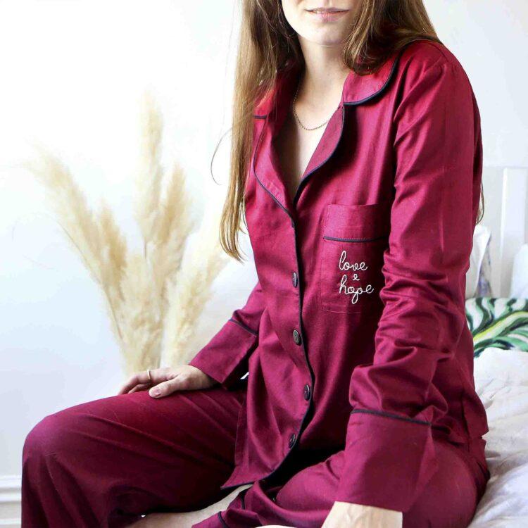 StephieAnn Red Organic Cotton Pyjamas
