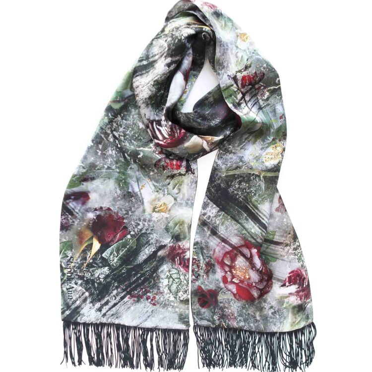 StephieAnn Rose Silk Scarf