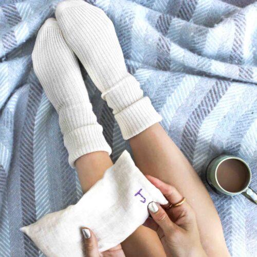 StephieAnn Wheatbag and cashmere socks gift set