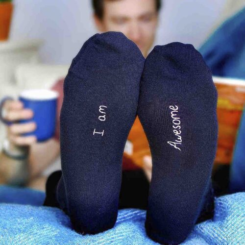 StephieAnn personalised men's socks