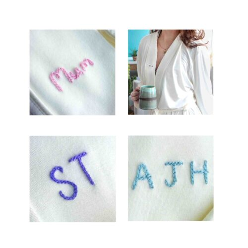 StephieAnn personalised Robe embroidery
