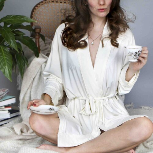 Women's Bamboo Jersey Robe Dressing Gown