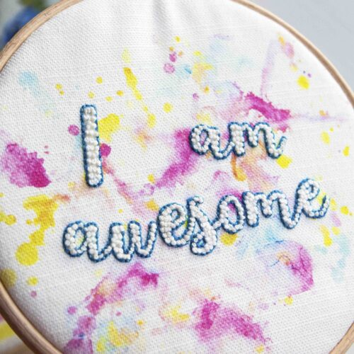 Awesome Embroidery Craft Kit