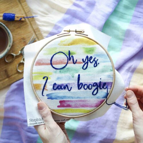 Boogie Embroidery Kit Stitching