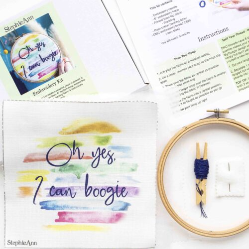 StephieAnn Embroidery Stitch Craft Kit for Beginners