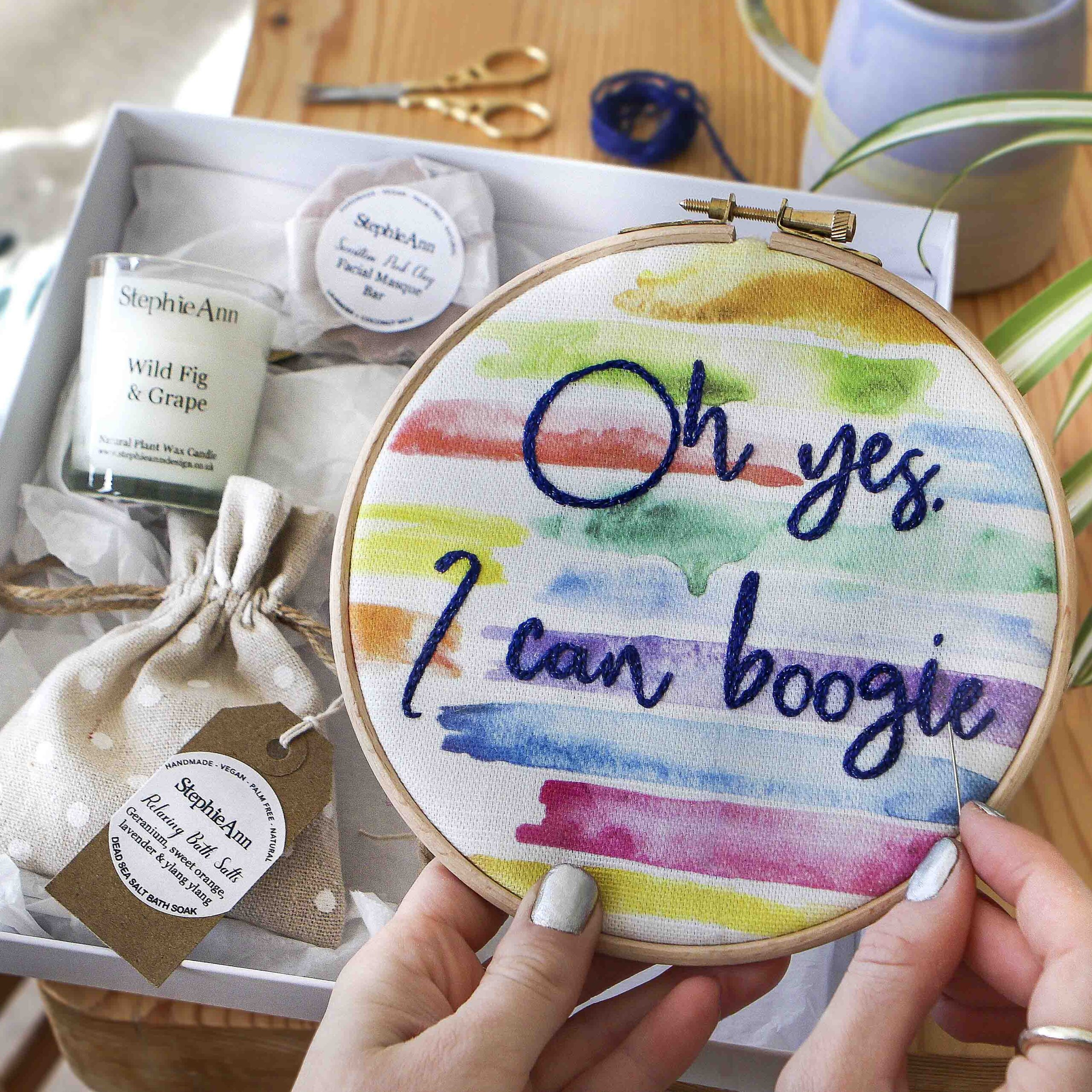 Relax and Craft Embroidery Stitch Kit