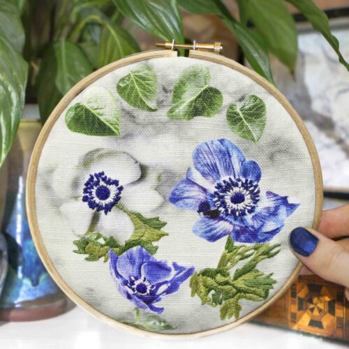 Floral StephieAnn Embroidery Stitch Craft Kit