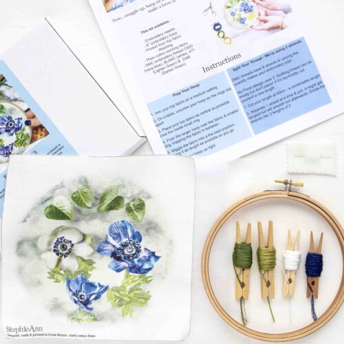 Floral Embroidery Kit by StephieAnn