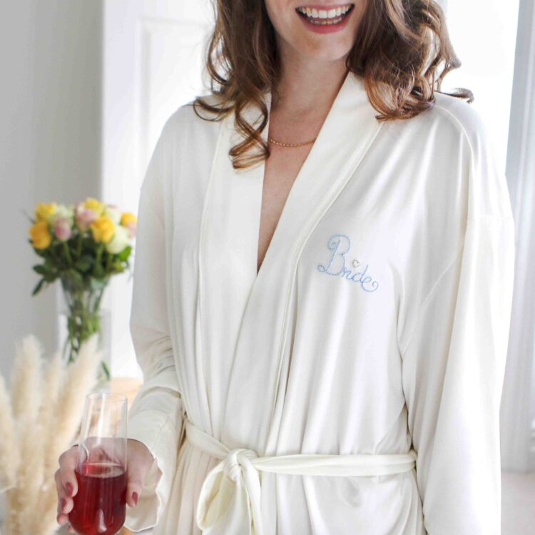 Bride Robe Dressing Gown
