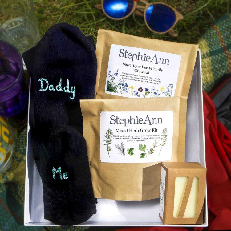 Daddy and Me Matching Socks and Grow Kit Gift Box