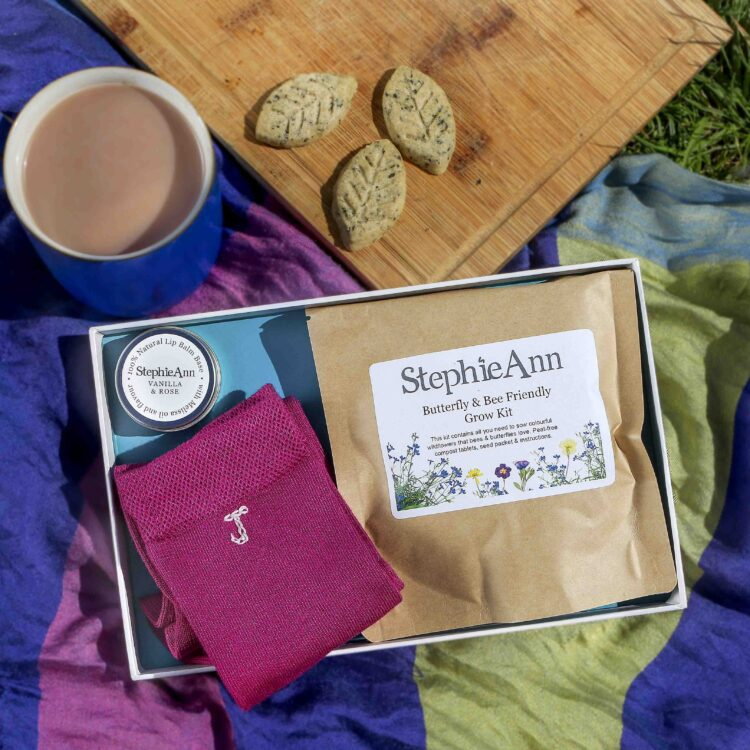 Women's Letterbox Gift Set With Personalised Socks & Grow Kit