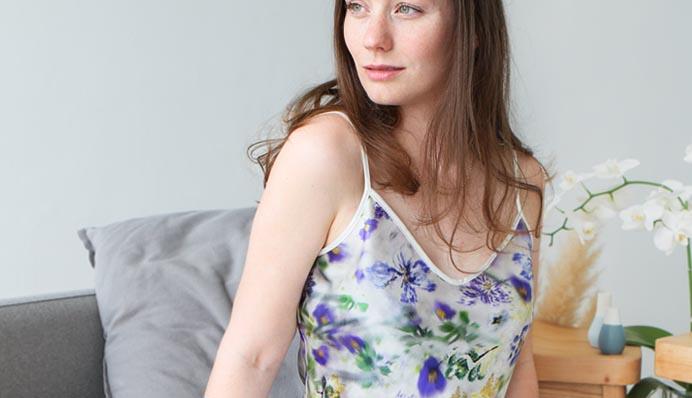 StephieAnn Pansy Silk Camisole