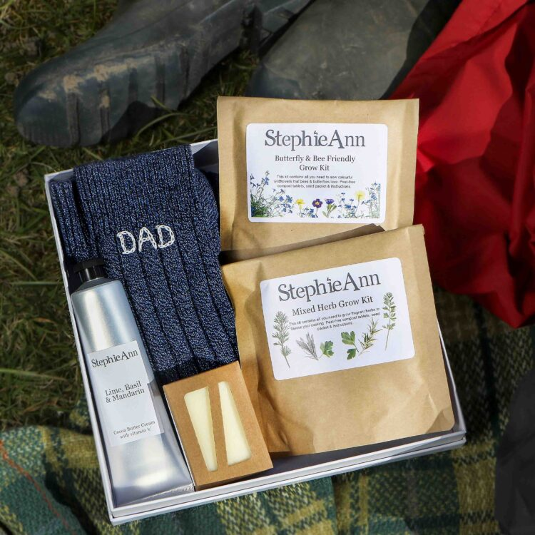 Relax and Grow Personalised Socks Men's Gift Box
