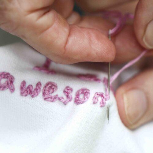 Hand embroidered sweatshirt StephieAnn