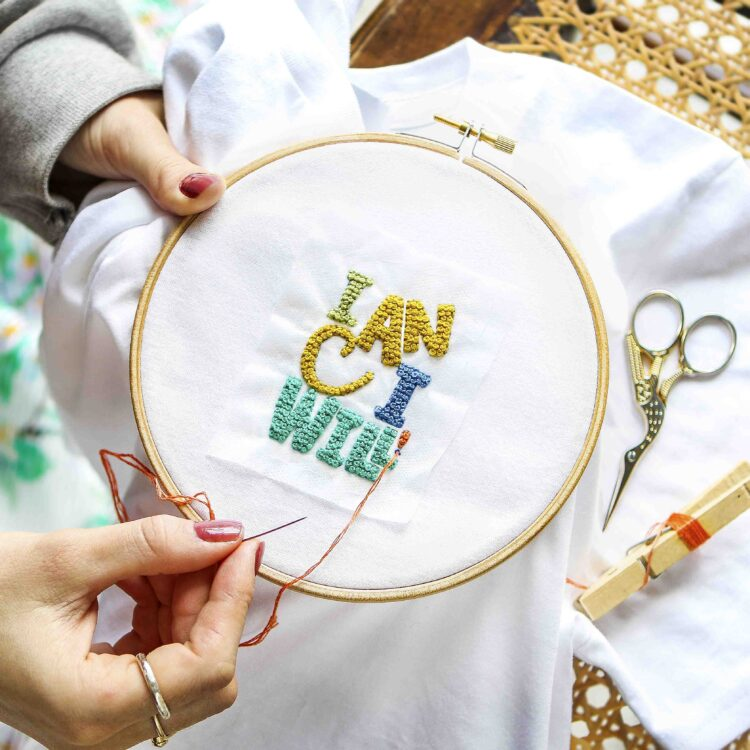 Can Will Tee Embroidery Kit StephieAnn