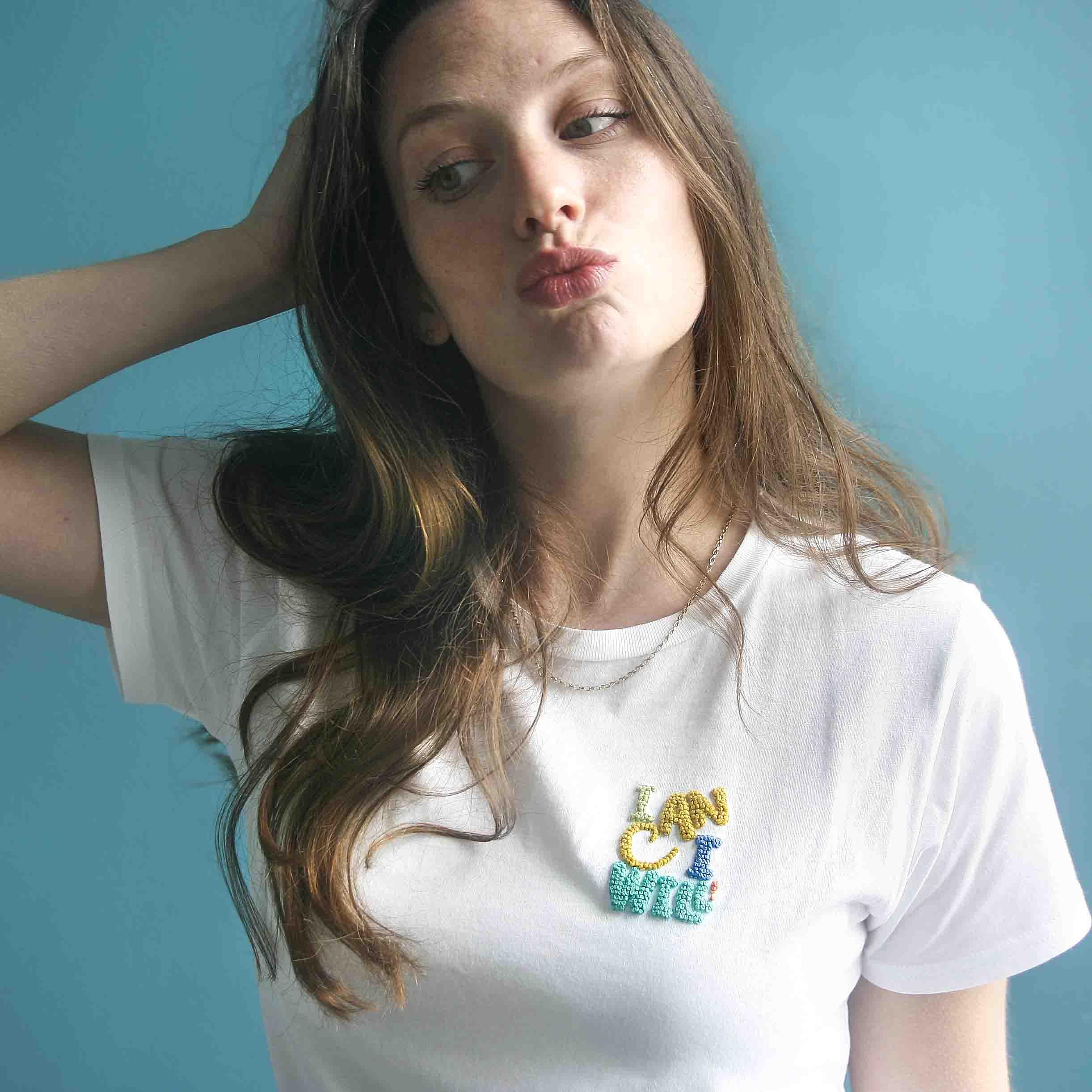 StephieAnn embroidery kit T-shirt