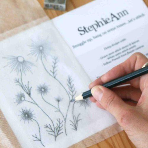 StephieAnn Embroidery Daisy Trace
